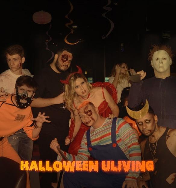 Comemoração do Halloween na moradia estudantil Uliving